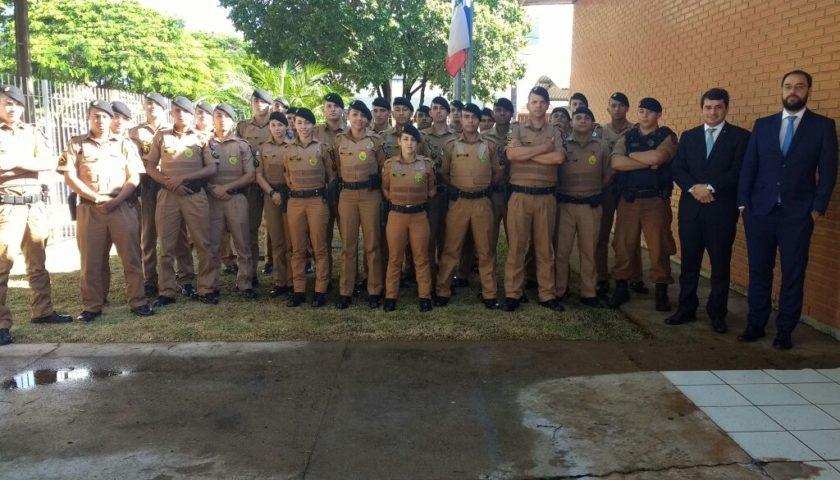 Poder Judiciário e Ministério Público recepcionam novos policiais que atuarão em Ubiratã e cidades pertencentes a 2ª CIA