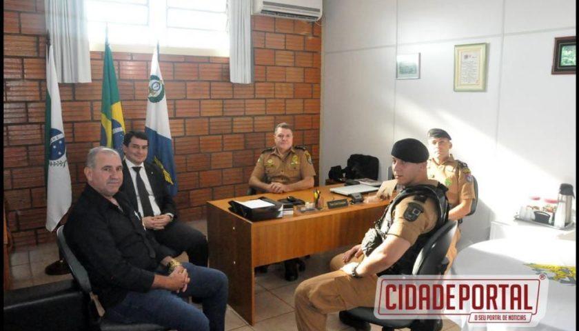 Dr. Ferdinando Scremin Neto foi recebido pelo Batalhão de Policia de Fronteira