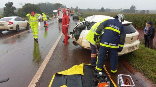 BR369: Acidente entre Corbélia e Cascavel deixa duas pessoas mortas