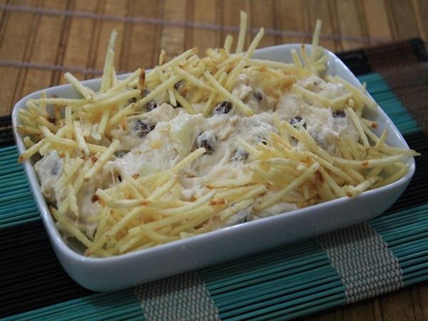 Salpicão com abacaxi