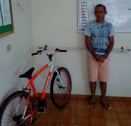 Homem é preso por furto de bicicleta em Cafelândia