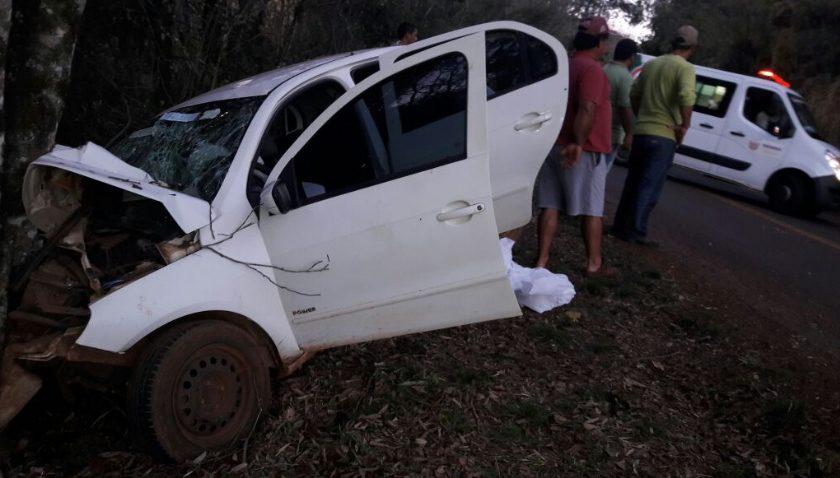 Acidente com família de Nova Cantu na PR-364 em Campina da Lagoa deixa duas vítimas fatais