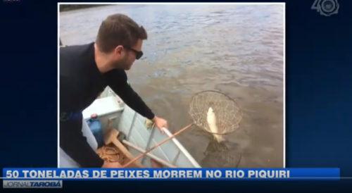 VÍDEO: 50 toneladas de peixes irão morrer no Rio Piquiri, diz IAP