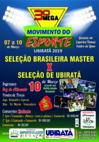 FUTEBOL SHOW:  Craques do passado fazem jogo do ano em Ubiratã neste domingo