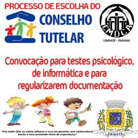 Pré-candidatos à eleição do Conselho Tutelar são convocados para testes psicológico, de informática e para regularizarem documentação