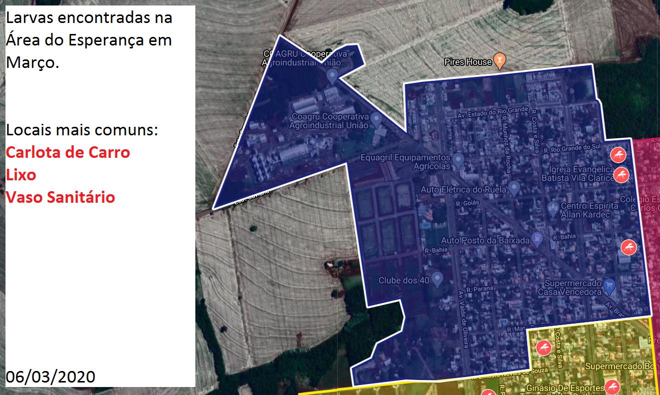 Foram notificados 625 casos suspeitos de dengue e 266 confirmados em Ubiratã