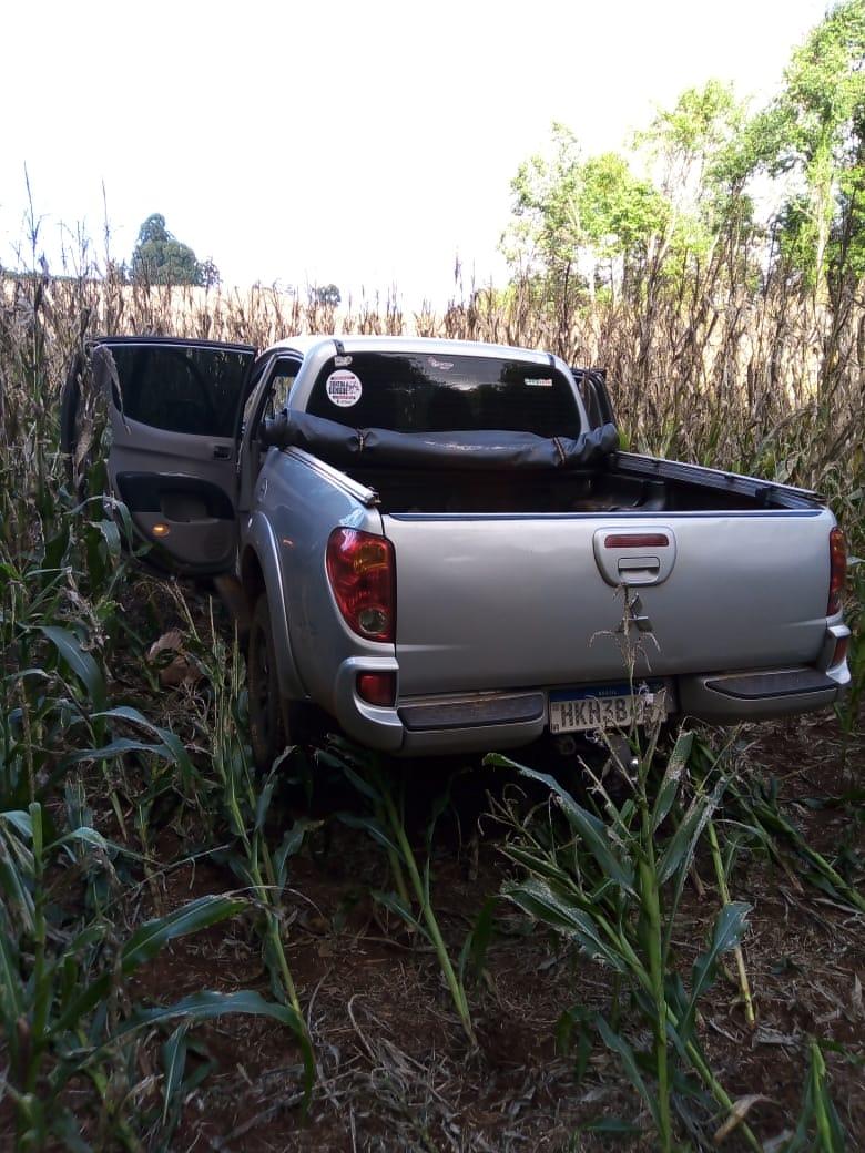 Camionete roubada em Campina da Lagoa